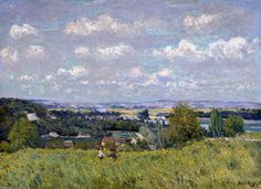 The Valley Of The Seine At Saint Cloud Painting by Alfred Sisley