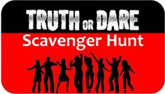 Take your party to the next level with the truth or dare teen scavenger hunt. Teams play to win by racing to nine different locations around town where they must complete at least one dare and one truth at each location. Teen Scavenger Hunt, Photo Scavenger Hunt, Birthday Party For Teens, Teen Birthday, Birthday Ideas, Birthday Games, 13th Birthday, Happy Birthday, Youth Games