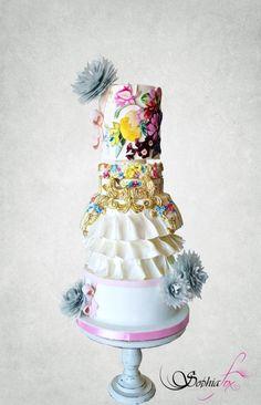 Couture Cakers International - Design Inspiration from Mary Katrantzou - cake by Sophia Fox Cake & Co, Cake Art, Amazing Wedding Cakes, Amazing Cakes, Made By Mary, Couture Cakes, Big Cakes, Fashion Cakes, Gorgeous Cakes