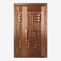 Luxury copper door wood classic style PNG and PSD Modern Entrance Door, Main Entrance Door Design, Wooden Front Door Design, Modern Wooden Doors, Wooden Front Doors, Wood Doors, Contemporary Doors, Entry Doors, House Main Door Design