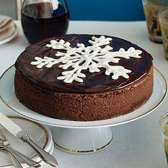 Snowflake cake YUM!
