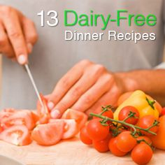 person preparing dinner with non-dairy ingredients