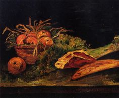 Still Life with Apples, Meat and a Roll - Vincent van Gogh