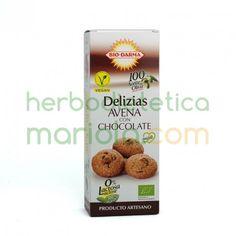 Las galletasDelizias Avena con Chocolate de Bio-Darma, añade a las propiedades de la fibra toda la energia que nos aporta el chocolate y es ideal para cualquier momento del día.