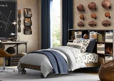 The Best Boys Sport Bedroom Decorating Ideas That Fit Your Budget And Desired « Home Design Gallery Boys Room Design, Boys Room Decor, Teen Boy Rooms, Teen Boys, Teenage Guys, Preteen Bedroom, Kids Rooms, Baby Boys, Bedroom Themes