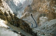 Khyber Pass - 1974. Wasn't exactly safe then either but at least the wars had not started yet.