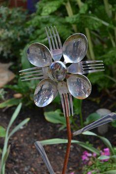 Cute garden art for a kitchen garden!