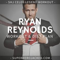 Ryan Reynolds Deadpool Workout Routine – How to get ripped like Deadpool and Green Lantern Workout Diet Plan, Six Pack Abs Workout, Ab Workout Men, Workout Routines, Workout Plans, Workout Ideas, Gym Workouts, Ryan Reynolds Deadpool Workout, Superhero Workout