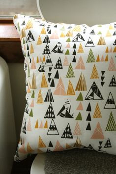 WOW!!!  Triangles Removable Throw Pillow Cover by leahduncan on Etsy