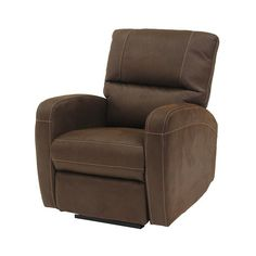 "Keelogan Chocolate 32"" Power-Motion Recliner $499"