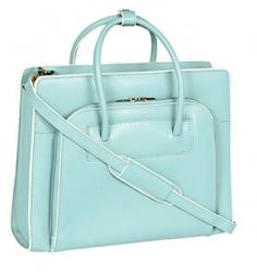 McKlein USA W Series Lake Forest Leather Womens 15.4 inch Laptop Case (aqua)...Find this great accessory at www.yournewstyles.com  #woman bags #woman handbag #purse