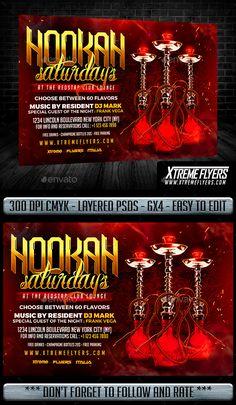Hookah Flyer Template PSD. Download here: http://graphicriver.net/item/hookah-flyer/16635745?ref=ksioks