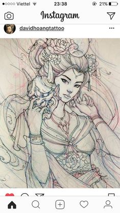 Đẹp Asian Tattoos, Sexy Tattoos, Girl Tattoos, Large Tattoos, Great Tattoos, Japanese Sleeve, Japanese Art, Geisha Art, Japanese Tattoo Designs