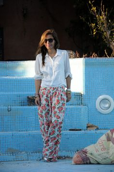 #fashion, prints, flowers, morocco, marrakech