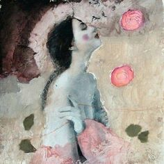 Expressive Art, Encaustic Art, Figure Painting, Figurative Art, Love Art, Female Art, Fantasy Art, Art Photography, Illustration Art