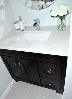 Photos Of The first big bathroom reveal As you Square Bathroom SinkDark Cabinets BathroomDark Vanity BathroomSmall