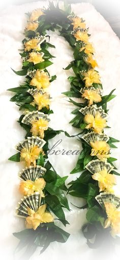 Ribbon Lei, Graduation Leis, Money Lei, Artificial Flowers, Flower Crown, Bouquet, Healing, Crafts, Crown Flower
