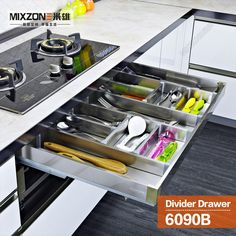 kitchen cabinet drawer adjustable dividers cutlery tray utensil hafele wood tray divider kitchen base tall cabinet