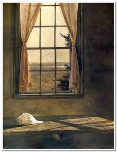 Andrew Wyeth       Her Room, 1963, (detail). Tempera on panel.