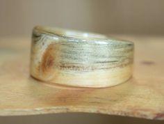 Denim pine ring ~ Touch Wood Rings Handmade Rings, Wood Rings, Pine, Silver Rings, Carving, Wedding Rings, Engagement Rings, Denim, Jewelry