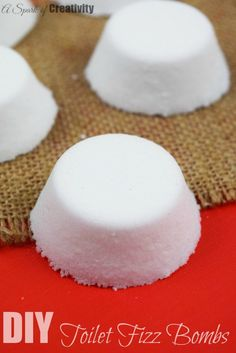 DIY Toilet Fizz Bombs, great way to refresh those toilets - A Spark of Creativity