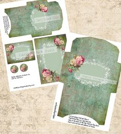 Damask and Roses Instant Download Digital by shabbycottagestudio, $2.00