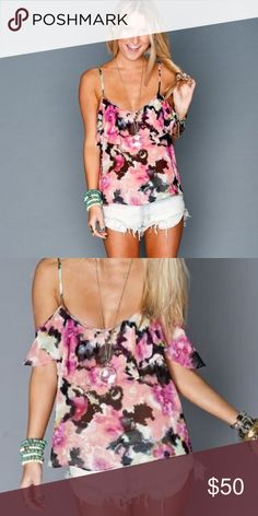 SMYM Ruffle tank Really cute, just a little big on me Show Me Your MuMu Tops Tank Tops