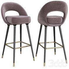 3d модели: Стулья - Collins Bar Chair Bar Chairs, Bar Stools, Metal Furniture, Furniture Design, Bar Unit, Interior Exterior, Furniture Collection, Chair Design, Towers