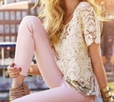 Pink, cream and gold