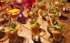 Ananás con tequila y menta