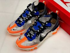 e819498e11bf Nike React Element 87 Thunder Blue Total Orange AQ1090-004 To Buy-1 Buy