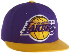 565c699efd3 NBA Men s Los Angeles Lakers Flat Brim Fitted Hat - Tr02K