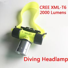 Waterproof 2000Lm CREE XM-L2 LED Diving SCUBA Zoom Headlight Headlamp Light Head