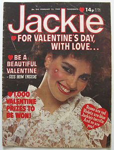 Jackie magazine - I couldn't wait for Wednesdays so I could get my weekly Jackie magazine.  I used to cycle to my local newsagent collect and it.  Loved this teen mag! (I even had this particular one!)