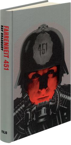 Cover and interior illustrations for Fahrenheit 451 by Ray Bradbury.  I love the futuristic styling, the book didn't give you that imagery. Oh wait...