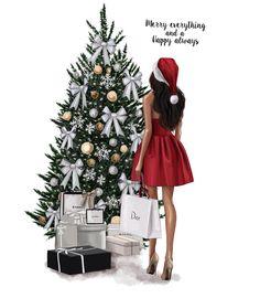 58 Ideas Fashion Art Illustration Christmas For 2020 Christmas Fashion, Winter Christmas, Christmas Time, Merry Christmas, Christmas Sketch, Christmas Drawing, Art And Illustration, Christmas Illustration, Silvester Trip