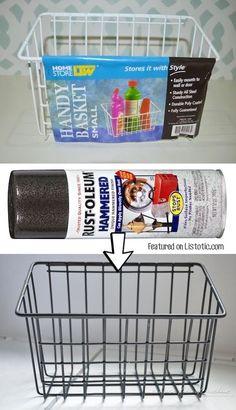 Coole Farbspray Ideen, mit der du eine Menge Geld sparen kannst - Stilisierter Drahtkorb
