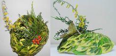 Headwear Project  - Modroc base with found plants
