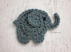 Broche elefante crochet - Patrón gratuito
