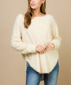 4892d9949e Acting Pro Cream Fuzzy Boatneck Sweater - Women