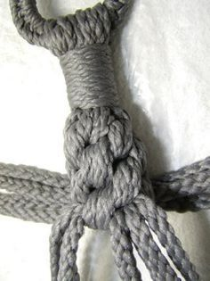 Macrame a Plant Hanger. Would like to try if I can figure this out.