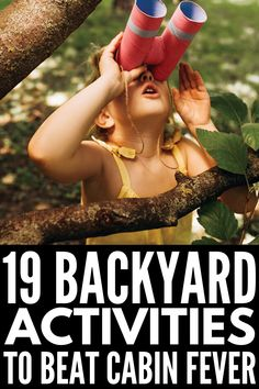 19 Backyard Activities for Kids | If you're looking for fun DIY yard games you can enjoy outdoors with your kids year-round, we've got 19 ideas to inspire you! Whether you have toddlers or kids in kindergarten or elementary school, we've got easy (and cheap!) ideas you can enjoy in spring, summer, fall, and winter. From obstacle courses, to water games, to old school birthday party games, to outdoor scavenger hunt ideas, there are so many things to do to burn energy when cabin fever sets in! Autism Activities, Group Activities, Educational Activities, Summer Activities For Kids, Summer Kids, Summer Fall, Outdoor Scavenger Hunts, Water Balloon Fight, Kids Up