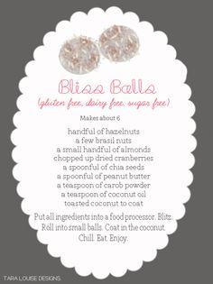i need inspiring please.: YUM: Bliss Balls