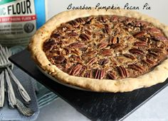 Bourbon Pecan Pumpkin Pie- for all of your Thanksgiving pie needs! @CookinStilettos