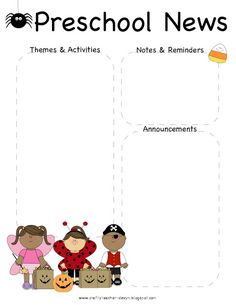 Pre-K Owl Newsletter Template | The Crafty Teacher | Talking to ...