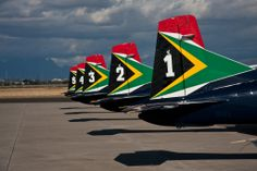 SAAF - Silver Falcons counting - AFB Ysterplaat 2011 - Wings and Wheels Airshow, South Africa.