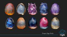 Dragon Eggs , Leonardo Ligustri on ArtStation at… Magical Creatures, Fantasy Creatures, Dragon Anatomy, Mythical Dragons, Dragon City, Dragon Artwork, Dragon Crafts, Pokemon, Dragon Egg