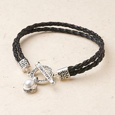 $60 Bali Scroll: Pearl Toggle Bracelet http://ourjewelrybox.jewelry.willowhouse.com/product.aspx?zpid=6536