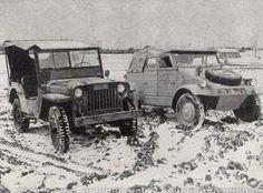 """stukablr: """" Willys Jeep vs. Kübelwagen """""""