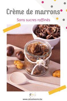 """Découvre ma recette facile et ultra rapide de crème de marrons """"maison"""" healthy sans sucre raffiné. Idéale à tartiner telle quelle ou comme base pour d'autres recettes (cakes, tartes, farce...). Un dessert gourmand et original d'automne. Crème de marron, confiture de marron, confiture de châtaigne #marron #châtaigne #crème #recette #automne #halloween Girl Cooking, French Girls, Coin, Oatmeal, Breakfast, Desserts, Blog, Lifestyle, Cooking Recipes"""